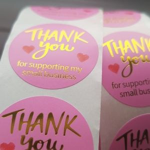 100 pcs Thank You For Supporting My Small Bus.